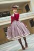 Model Show (Antique Pink Stripes Ver.) (beret: P00692, vest JSK: DR00273, blouse underskirt: TP00186, underskirt: UN00030)