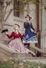 Model Show (Shadow Blue Stripes & Antique Pink Stripes Ver.) (beret: P00692, vest JSK: DR00273, blouse underneath: TP00186, underskirt: UN00030)