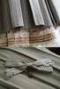 Detail View UP: Light Grey Stripes Version BELOW: Pale Sage Green Stripes Version