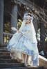 Model Show (White Beads Pendants Ver.) (head scarf: P00695, dress: DR00276S with optional underskirt UN00032S, overskirt: Y00045, petticoat: UN00028)