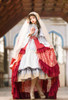 Model Show (Red Beads Pendants Ver.) (head scarf: P00695, dress: DR00276S with optional underskirt UN00032S, overskirt: Y00045, petticoat: UN00028)
