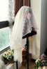 Veil Set with White Beads Pendants Version