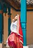 Model Show (Burgundy Ver.) (dress: DR00276S with optional underskirt UN00032S, overskirt: Y00045, petticoat: UN00028)