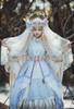 Model Show (Pale Beige Ver.) (veil set: P00696, dress: DR00276S with optional underskirt UN00032S, overskirt: Y00045, petticoat: UN00028)