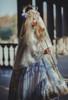 Model Show (Pale Beige + Mint Ver. with Optional Underskirt UN00032S) (head scarf: P00695, veil set: P00696, corset skirt piece: Y00045, petticoat: UN00028)