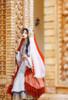 Model Show (Light Grey Ver. with Optional Underskirt UN00032S) (head scarf: P00695, veil set: P00696, corset skirt piece: Y00045, petticoat: UN00028)