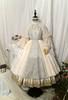 Pale Beige + Mint Ver. with Optional Underskirt UN00032S (tulle skirt underneath: UN00030, petticoat: UN00028)
