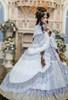 Model Show (Light Grey Ver. with Optional Underskirt UN00032 and gift petticoat UN00033) (corset skirt piece: Y00045)