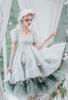 Model Show (Mint Green + Light Grey + White Ver.) (bonnet: P00706, dress: DR00279 with optional bustle piece P00709)