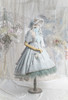 Coordinate Show (Mint Green + Light Grey + White Ver.) (bonnet: P00706, brooch: P00710, dress: DR00279 with optional bustle piece P00709, petticoat: UN00028)