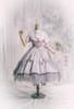 Coordinate Show (Pale Lilac Grey + Greyish Pink + Light Khaki Ver.) (headdress: P00710, dress: DR00279 with optional bustle piece P00709, corset: Y00043, overskirt: SP00219, petticoat: UN00028)