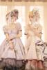 Group Model Show (Pale Beige & Pale Lilac Ver. with optional bustle piece P00709) (headdress: P00710, bonnet: P00706, underskirt: UN00030N)