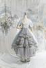 Pale Mint Ver. with optional bustle piece P00709 (underskirt: UN00030N, petticoat: UN00028)