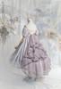 Pale Lilac Ver. with optional bustle piece P00709 (underskirt: UN00030N, petticoat: UN00028)