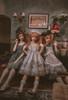 Model Show (Milky White & Iron Grey Ver.) (headdress: P00712) Girl on RIGHT (headdress: P00711, dress: DR00280, apron: DR00281)