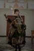 Model Show (Antique Green Ver.) (headdress: P00715, dress: DR00286, petticoat: UN00026, bustle pillow: P00714)