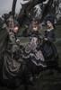 Model Show (Antique Pink & Antique Blue Ver.) RIGHT (headdress: P00715, black dress: DR00288, underskirt: UN00030) MIDDLE (headdress: P00715S, blouse: S01008, underskirt: UN00030N, petticoat: UN00028) Girl on Left wearing (headdress: P00715, dress: DR00288, corset: Y00047, petticoat: UN00026, bustle pillow: P00714)