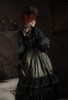 Model Show (Antique Green Ver.) (headdress: P00715S, black dress: DR00288, underskirt: UN00030N, bustle pillow: P00714)