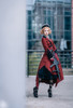 Model Show (Burgundy Ver.) (headdress: P00610N, shirt: TP00139N, skirt: SP00177N, skirt piece: P00705, petticoat: UN00026)