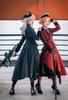 Model Show (Dark Grey & Burgundy Ver.) (headdress: P00610N, shirt: TP00139N, skirt: SP00177N, skirt piece: P00705, underskirt: UN00030, petticoat: UN00026)