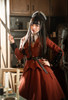 Model Show (Burgundy Ver.) (headdress: P00610N, shirt: TP00139N, skirt: SP00177N, petticoat: UN00026)