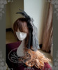 Gothic Elegant Lolita Lace & Tulle Hairdress*Black Instant Shipping