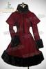 Front View (Burgundy Wool + Black Fur)