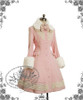 Classic Elegant Lolita Revers Embroidery Antique Embrodiery Yoke Warm Wool Coat&Detached Fur
