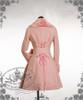 Elegant Gothic Lolita Fur Lapel Corset Medium Long Wool Coat
