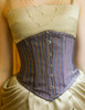 Last Chance: Vintage Underbust Corset Top Steel Boned Corset Black White Golden