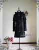 Gothic Punk Pockets & Zipper Decorated Padded Warm Coat & Hood