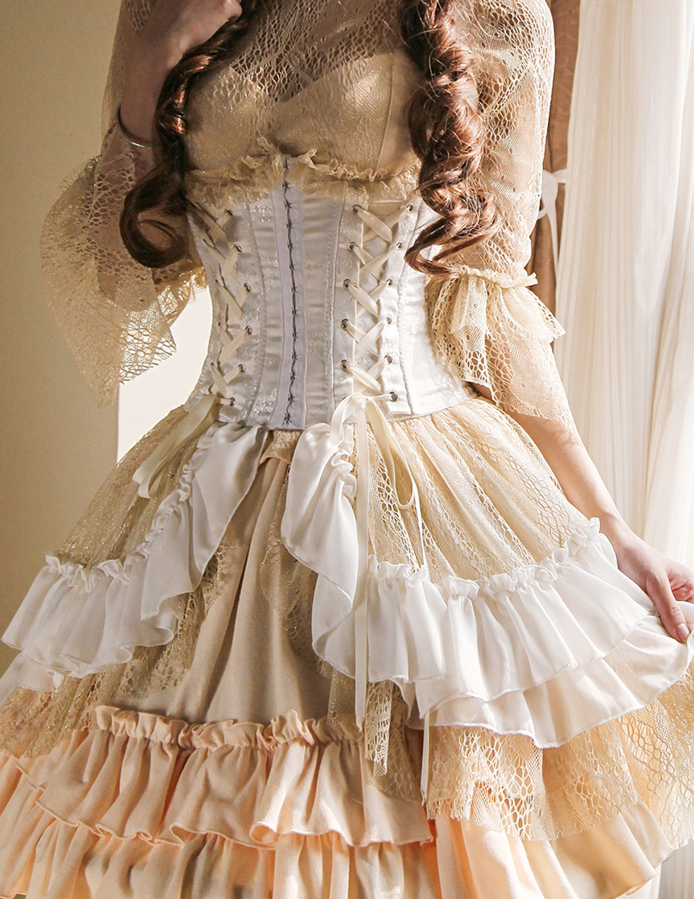 af597d26446 Model Show (White + Gold Ivory Mixed Lace Ver.) (cutsew: TP00101N
