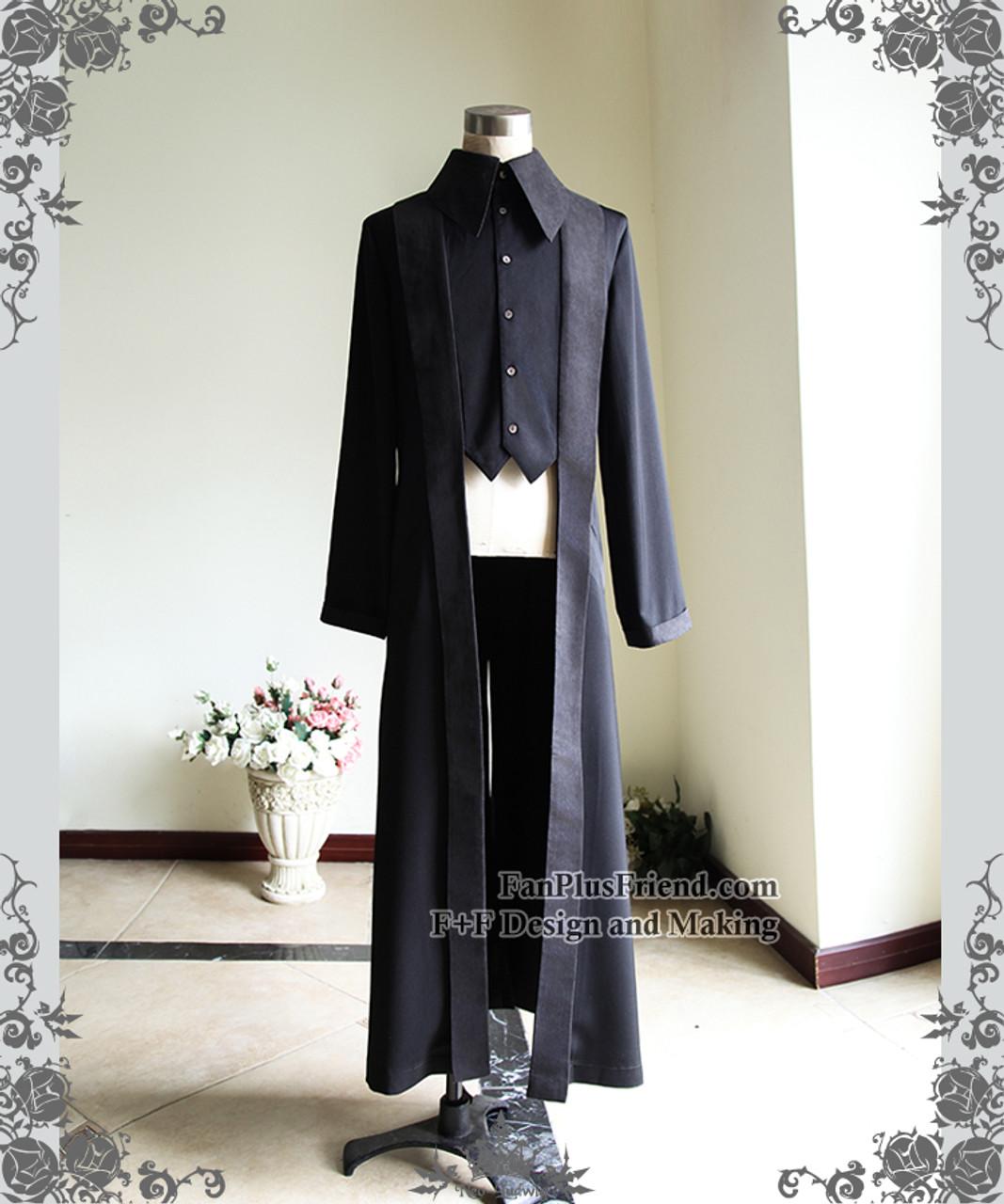 15e8a9fc66 Vintage Dress Shirt Long Cocktail Shirt Pirate Punk Fashion Black Shirt  Jacket