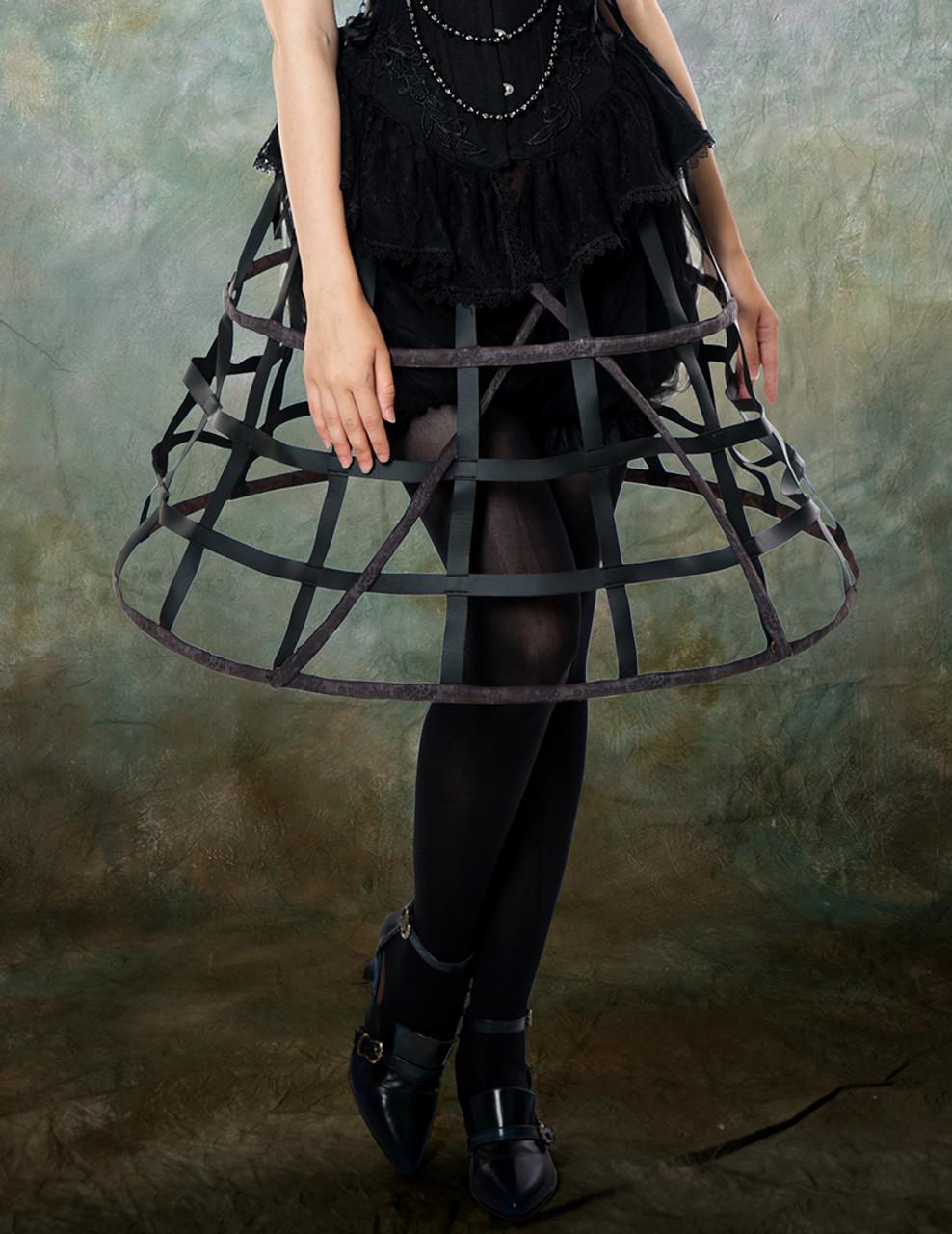 f836a1278 Model View (Black + Brown Ver.) corset & brooch Y00032N bloomers UN00025