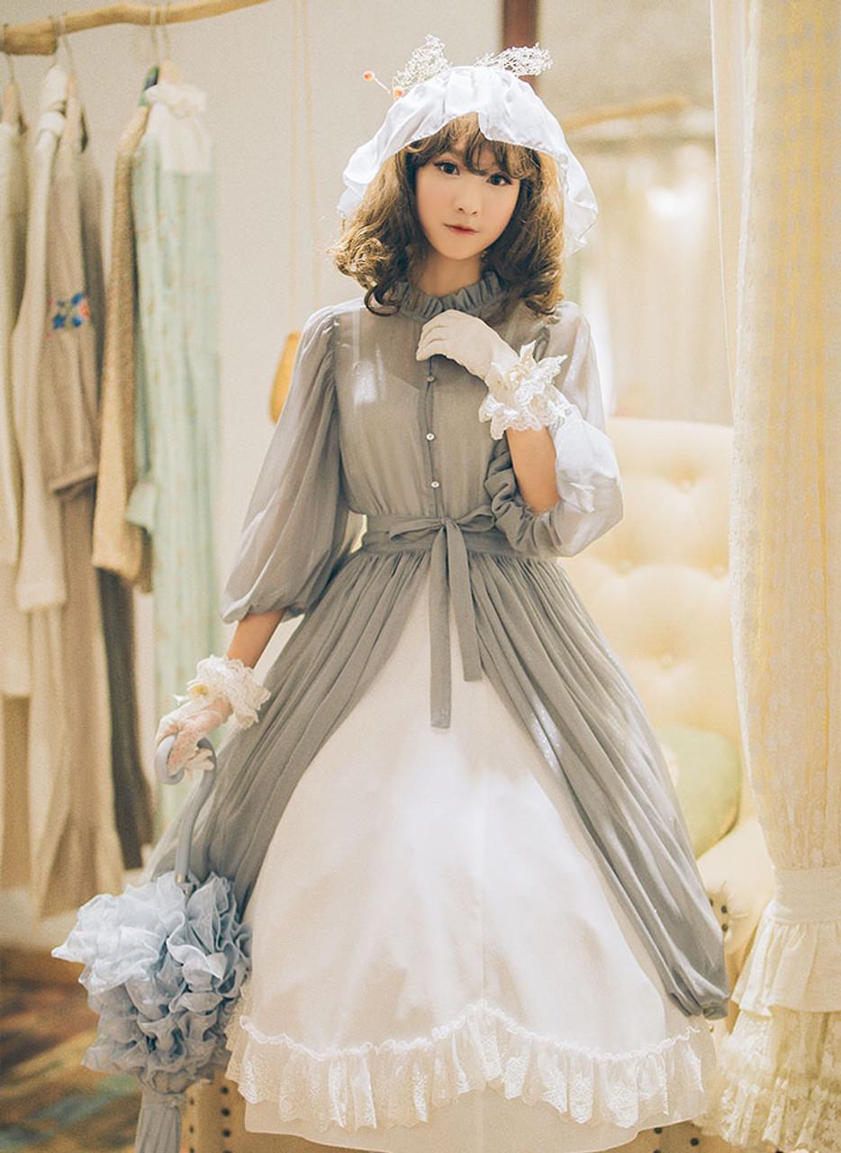 50s Puffy Sleeve Dress