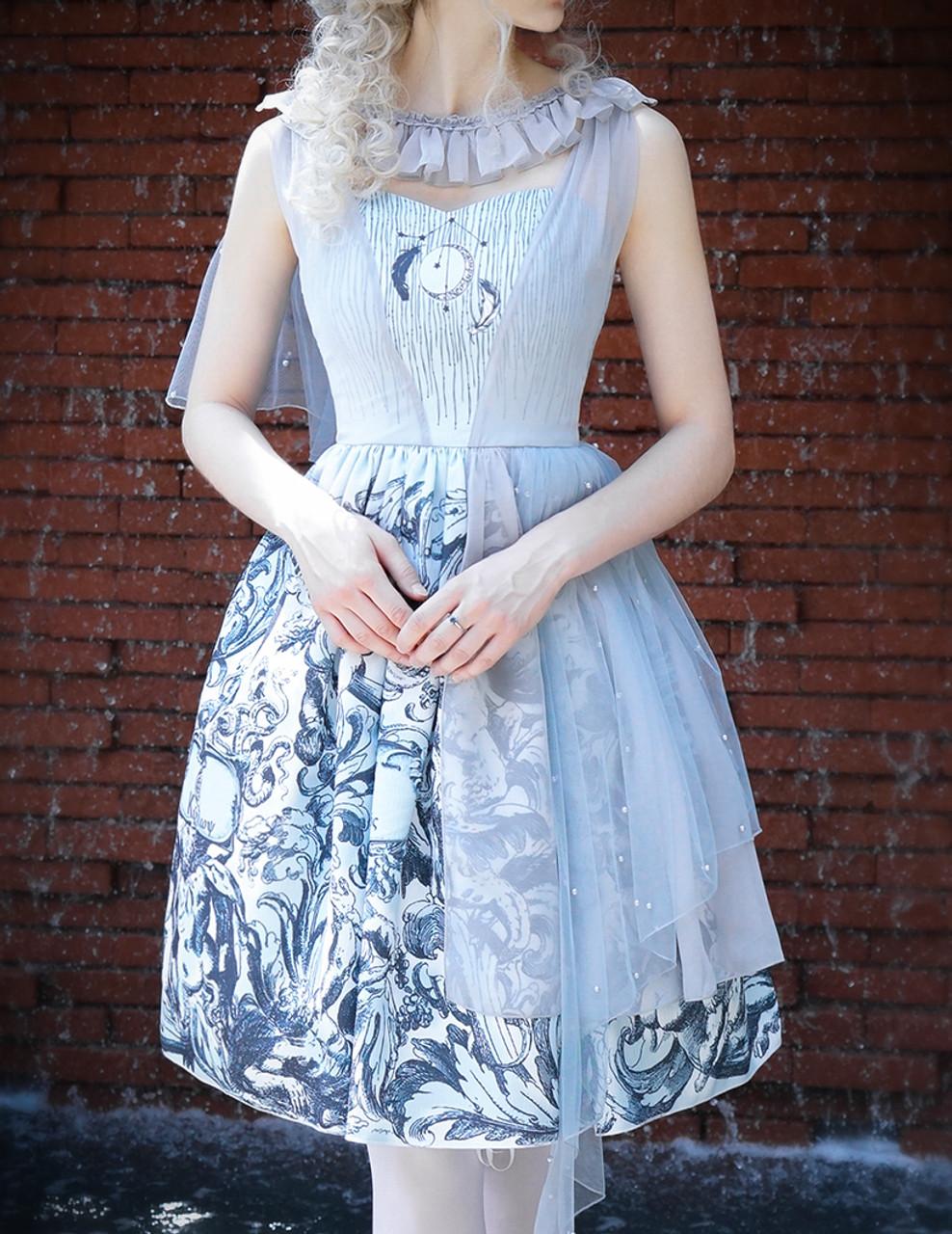 514c8f5f45b Vintage Lolita Printed Retro Midi Dress Ancient Greek Goddess No ...