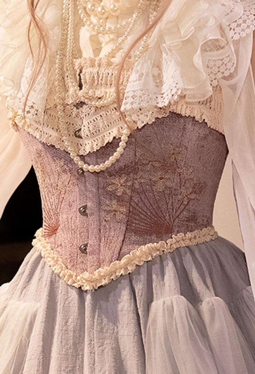 52e11ec69ba1 Les Sylphides, Classic Lolita Refined Floral Jacquard Steel Boned ...