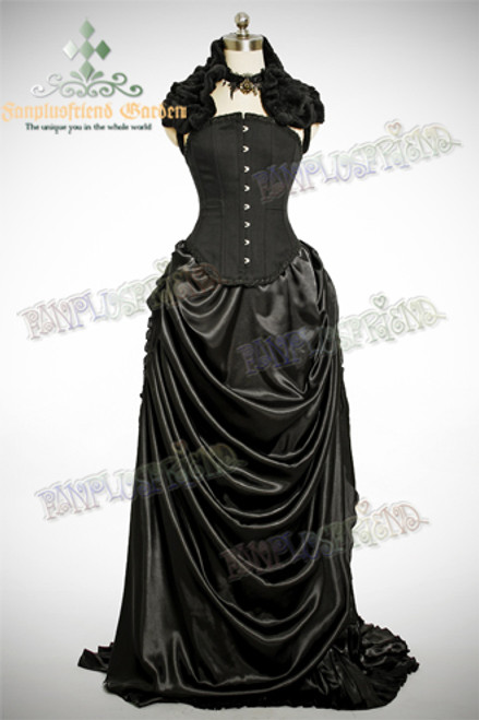 items in picture (sell separately): choker: P00543 shawl: P00429 corset: Y00008 pannier: UN00018 bustle: P00002