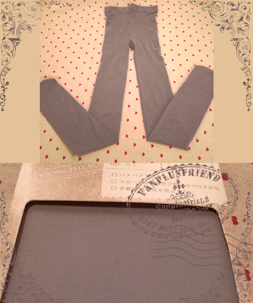 Basic Solid Color Leggings Tights*Grey