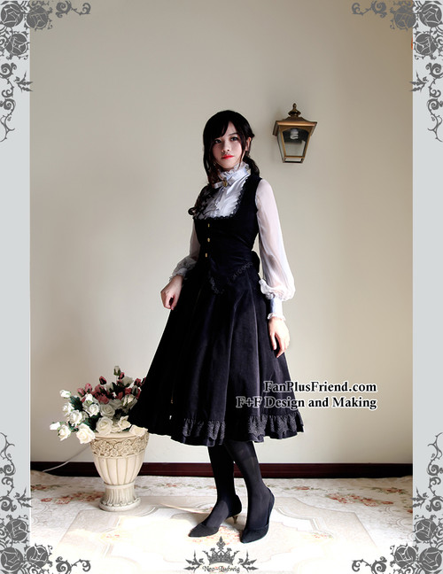 43e14bf42 Steampunk A Line Skirt Long Skirt Steel Boned High Waisted Skirt Heavy  Black Burgundy