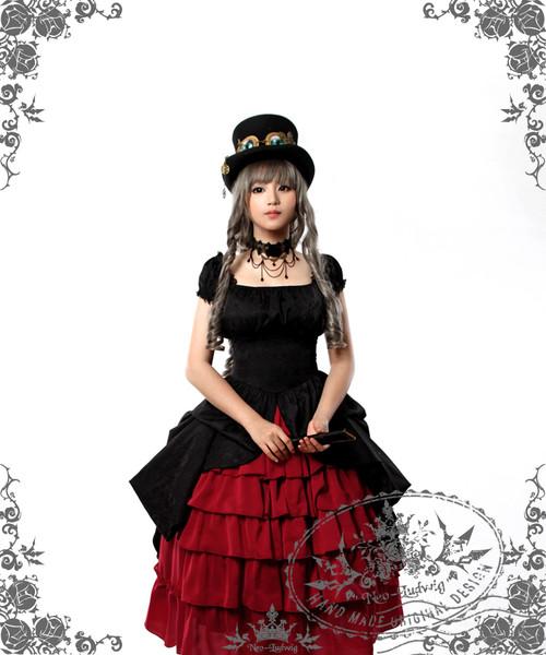 Model Show (Black Ver.) (hat: P00587, choker: AD00581, fan: P00580, skirt: SP00166)