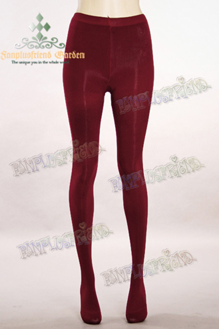 Basic Solid Color Leggings Thick Tights*Burgundy