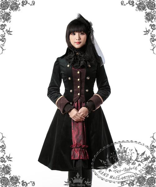 Model Show(dark green + deep brown Ver.) (Blouse TP00088N, dress DR00160, Hairdress P00564)