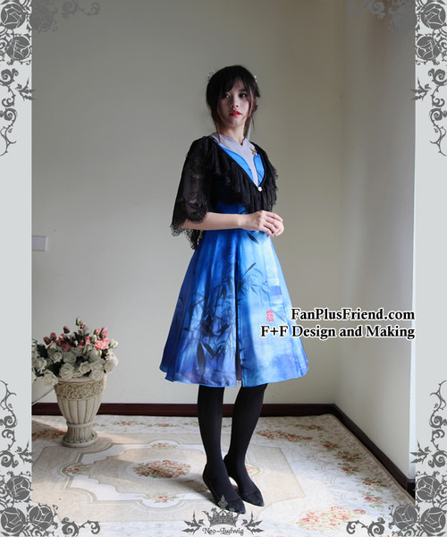 Model Show (Black Ver.) (dress: DR00179, petticoat: UN00022, leggings: P00182)