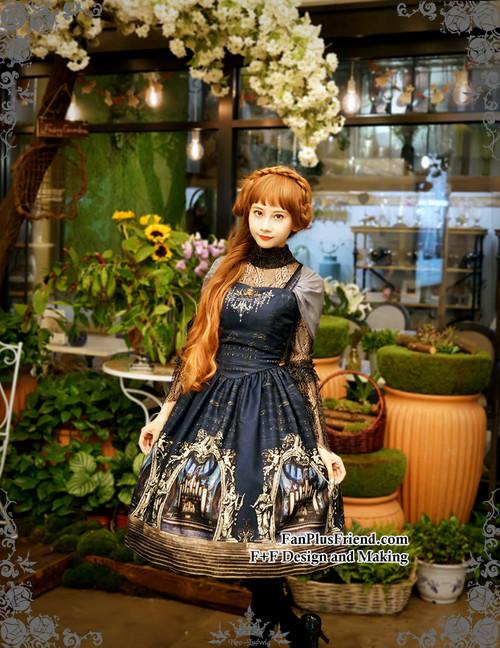 Model Show (Dark Blue Ver.) (blouse: TP00101N, birdcage petticoat: UN00019, leggings: P00182)