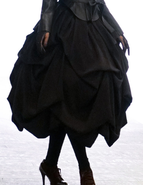 Silence Lonely, Gothic Lolita Retro Heavy Drop Pleat Corset High Waist Long Skirt*Instant Shipping
