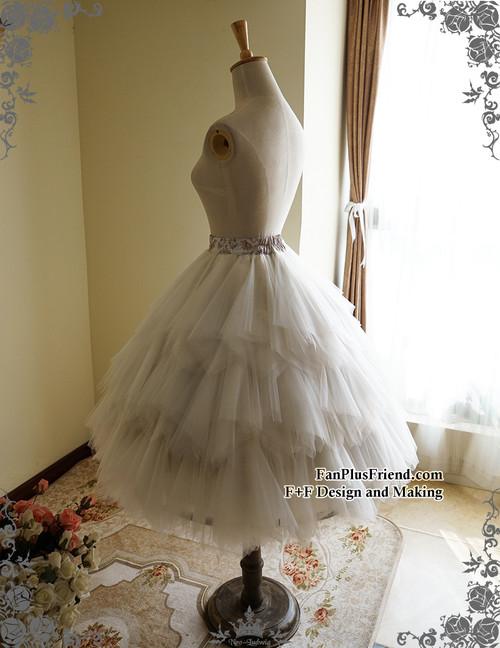 d829e95426 Steampunk Wedding Tulle Skirt Midi Skirt Handmade Bustle Belt Set