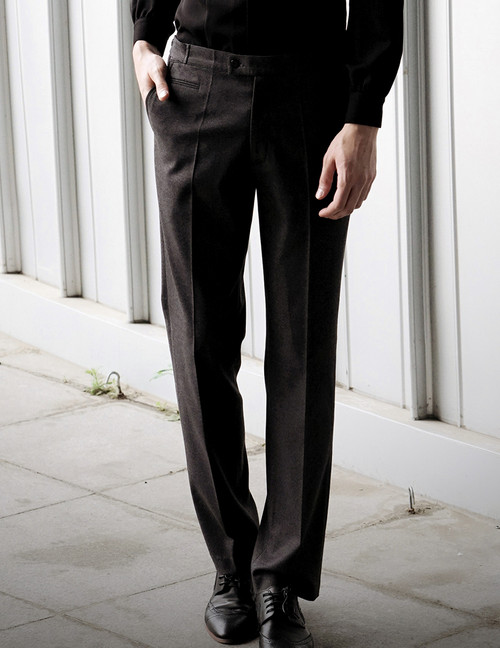 50s' Vintage Suit Pants Men's Formal Dress Pants Grey Brown Retro Fashion