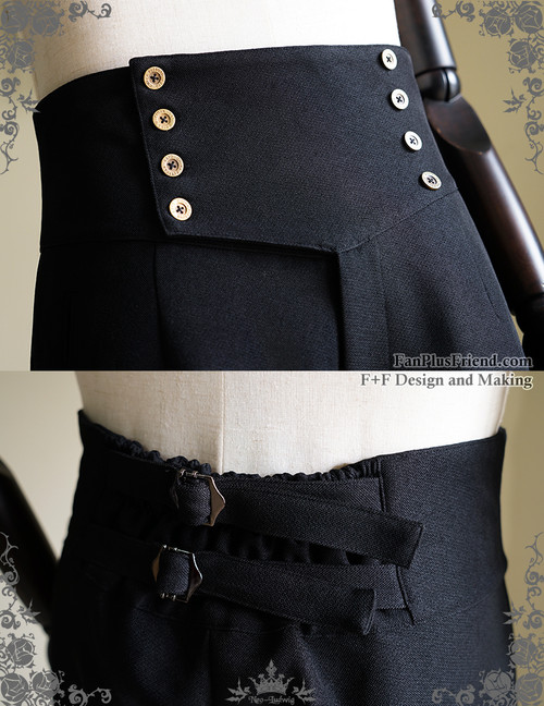 6380ab6260 Steampunk Riding Breeches High Waisted Shorts Black Men Shorts
