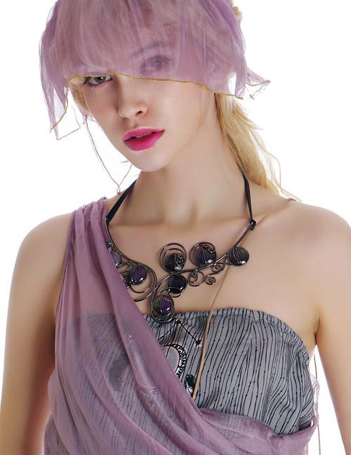 Model Show (silk dress set: S03016, silk headdress: S04017)